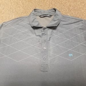 Travis Mathew Gray Golf Polo Medium